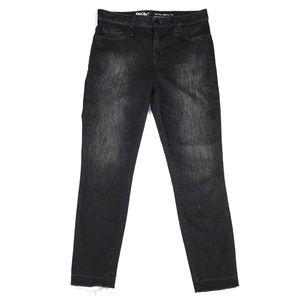 Mossimo High Rise Raw Hem Jegging Crop Jean